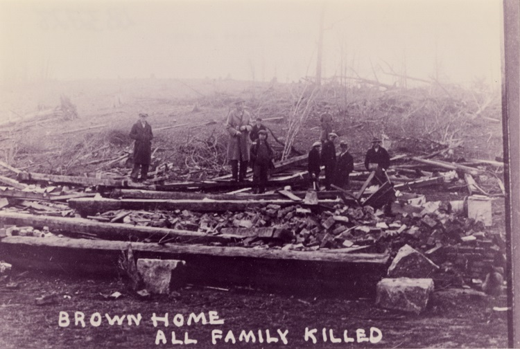 Brown family home destroyed